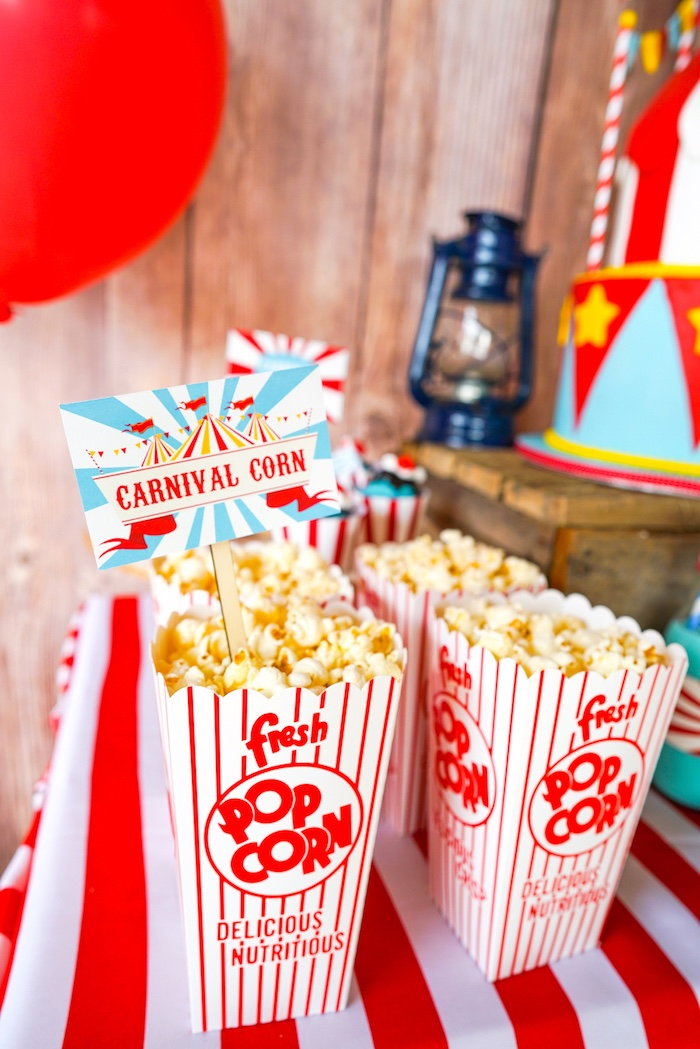 Popcorn from a Backyard Carnival Party on Kara's Party Ideas | KarasPartyIdeas.com (12)