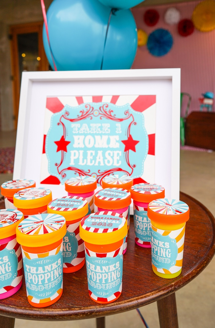Favors from a Backyard Carnival Party on Kara's Party Ideas | KarasPartyIdeas.com (11)