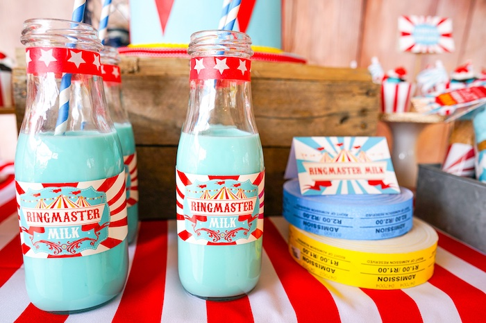 Ringmaster milk from a Backyard Carnival Party on Kara's Party Ideas | KarasPartyIdeas.com (10)