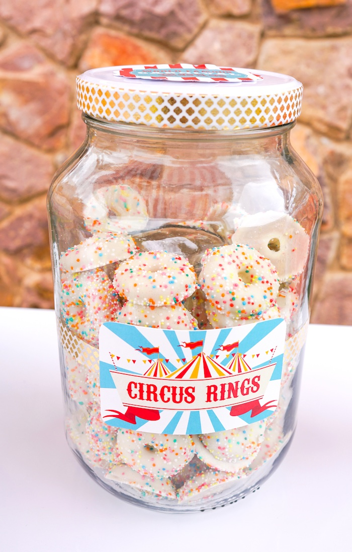 Circus cookies from a Backyard Carnival Party on Kara's Party Ideas | KarasPartyIdeas.com (42)