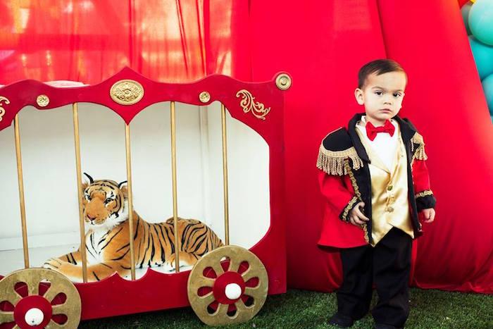 Lion cake from a Big Top Circus Birthday Party on Kara's Party Ideas | KarasPartyIdeas.com (7)