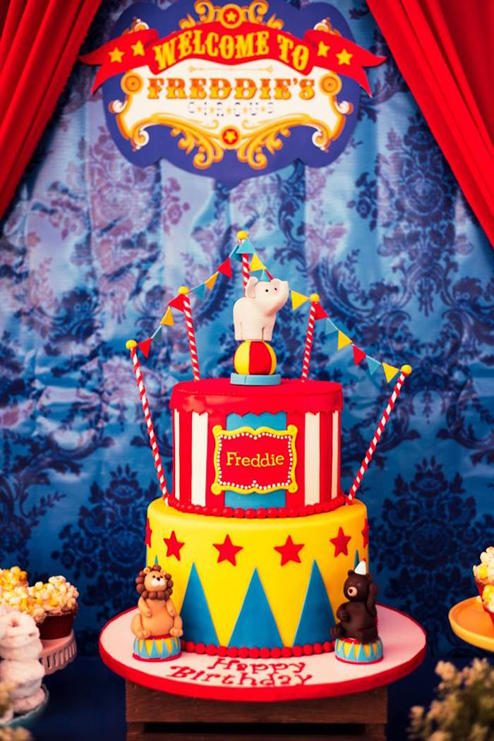 Kara S Party Ideas The Big Top Circus Birthday Party