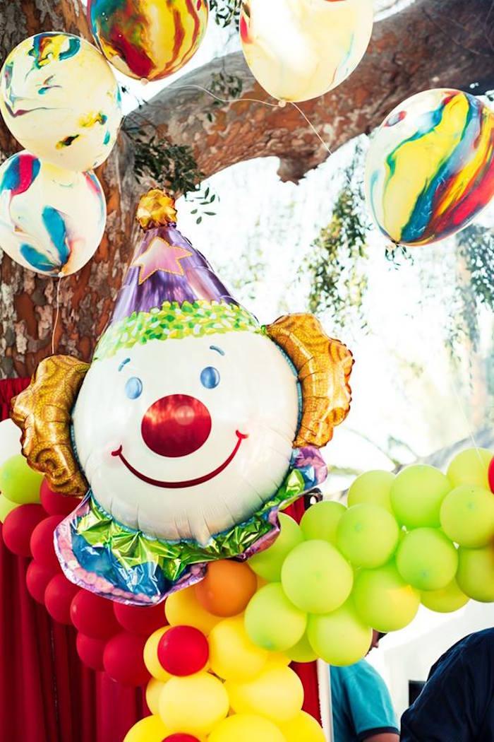 Balloons from a Big Top Circus Birthday Party on Kara's Party Ideas | KarasPartyIdeas.com (10)