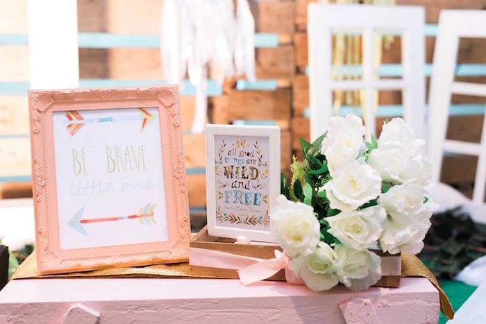 Boho prints from a Bohemian Coachella Inspired Birthday Party on Kara's Party Ideas | KarasPartyIdeas.com (10)