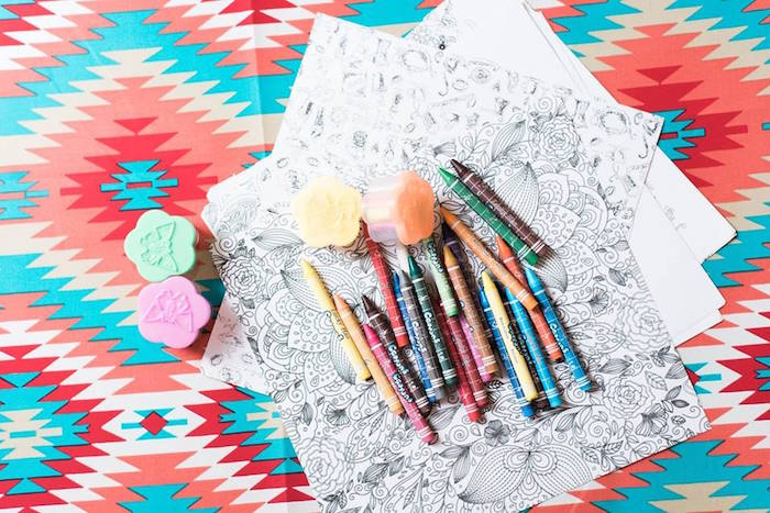 Coloring pages from a Bohemian Coachella Inspired Birthday Party on Kara's Party Ideas | KarasPartyIdeas.com (4)