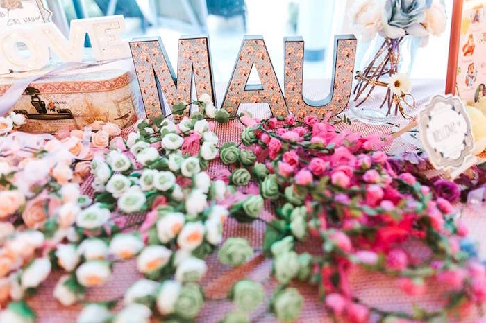 Floral crowns from a Bohemian Coachella Inspired Birthday Party on Kara's Party Ideas | KarasPartyIdeas.com (19)