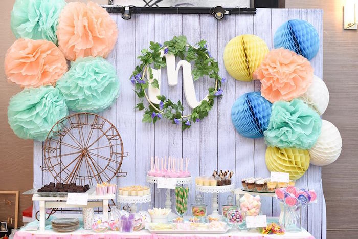 Dessert table from a Bohemian Coachella Inspired Birthday Party on Kara's Party Ideas | KarasPartyIdeas.com (18)