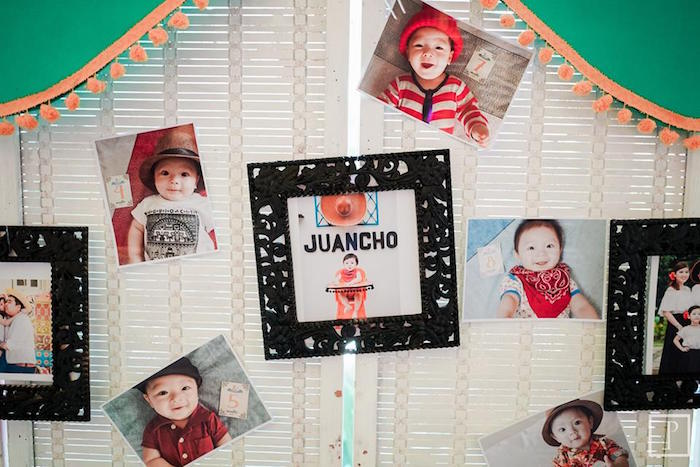 Photo wall from a Cactus Fiesta Birthday Party on Kara's Party Ideas | KarasPartyIdeas.com (19)
