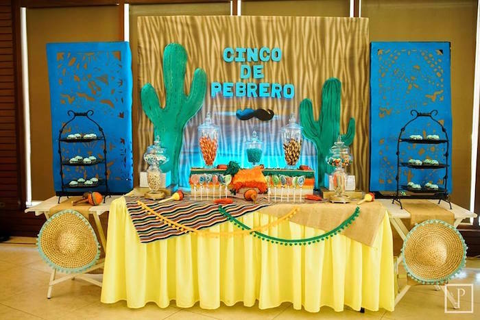 Dessert table from a Cactus Fiesta Birthday Party on Kara's Party Ideas | KarasPartyIdeas.com (18)
