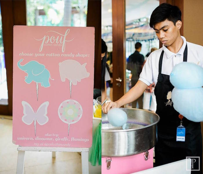 Cotton candy stand from a Cactus Fiesta Birthday Party on Kara's Party Ideas | KarasPartyIdeas.com (17)