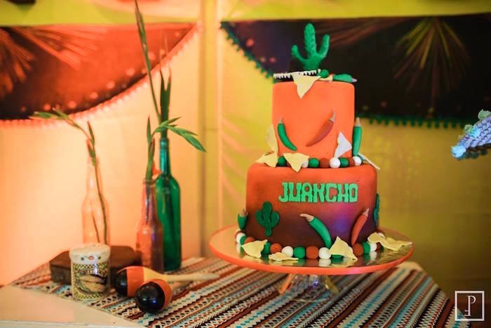 Cactus cake from a Cactus Fiesta Birthday Party on Kara's Party Ideas | KarasPartyIdeas.com (9)