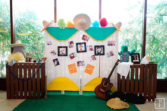 Highlight decor + backdrop from a Cactus Fiesta Birthday Party on Kara's Party Ideas | KarasPartyIdeas.com (4)