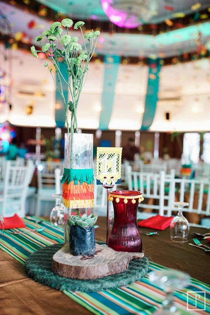 Guest table centerpieces from a Cactus Fiesta Birthday Party on Kara's Party Ideas | KarasPartyIdeas.com (22)