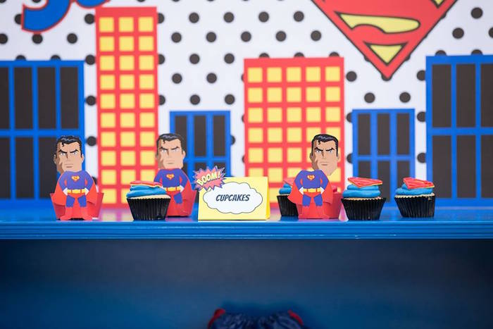 Cupcakes from a Calling All Superheroes Birthday Party on Kara's Party Ideas   KarasPartyIdeas.com (20)