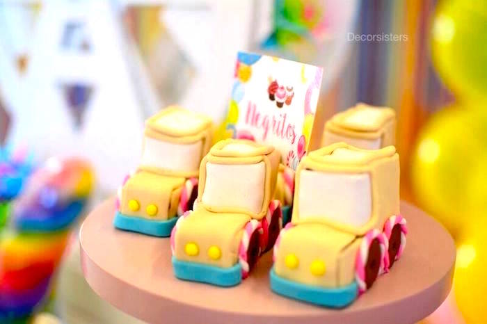Candy Land car cakes from a Candy Land Birthday Party on Kara's Party Ideas | KarasPartyIdeas.com (12)