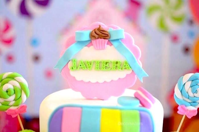 Cake topper from a Candy Land Birthday Party on Kara's Party Ideas | KarasPartyIdeas.com (6)