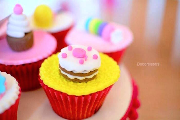 Candy Land cupcake from a Candy Land Birthday Party on Kara's Party Ideas | KarasPartyIdeas.com (4)