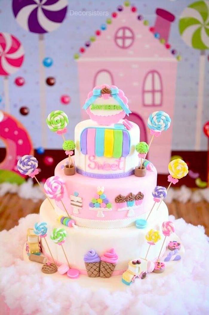 Candyland Birthday Cake Pinterest