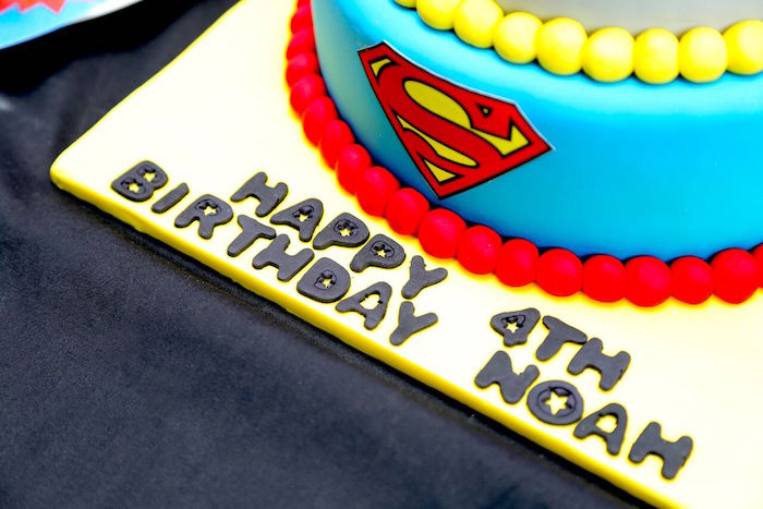 Cake lettering from a Colorful Superhero Birthday Party on Kara's Party Ideas | KarasPartyIdeas.com (16)