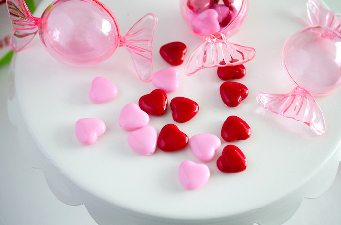 Candy Hearts From A Dolly And Me Valentine Tea Party On Karau0027s Party Ideas  | KarasPartyIdeas