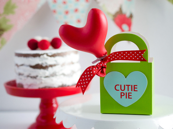 Cutie Pie gift bag from a Dolly and Me Valentine Tea Party on Kara's Party Ideas | KarasPartyIdeas.com (17)