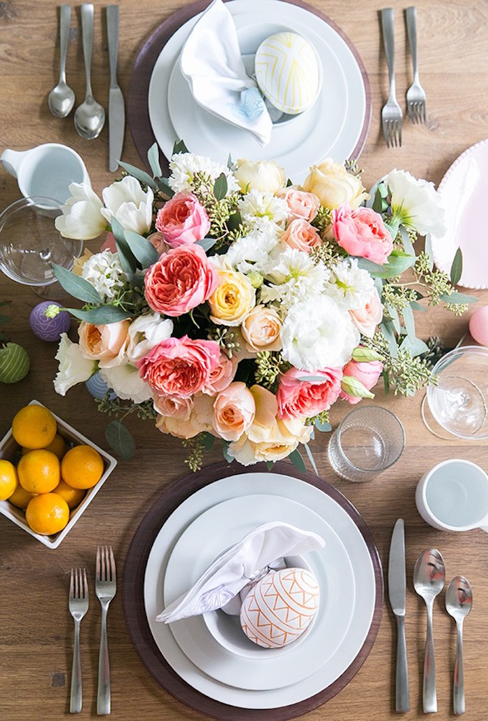 Dining tabletop from an Easter Brunch Party on Kara's Party Ideas | KarasPartyIdeas.com (11)