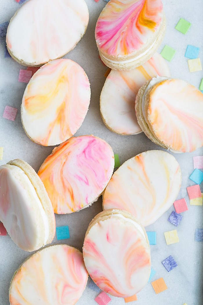 Marbled egg sugar cookies from an Easter Brunch Party on Kara's Party Ideas | KarasPartyIdeas.com (8)