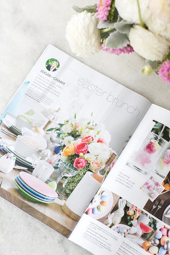 Magazine spread from an Easter Brunch Party on Kara's Party Ideas | KarasPartyIdeas.com (4)