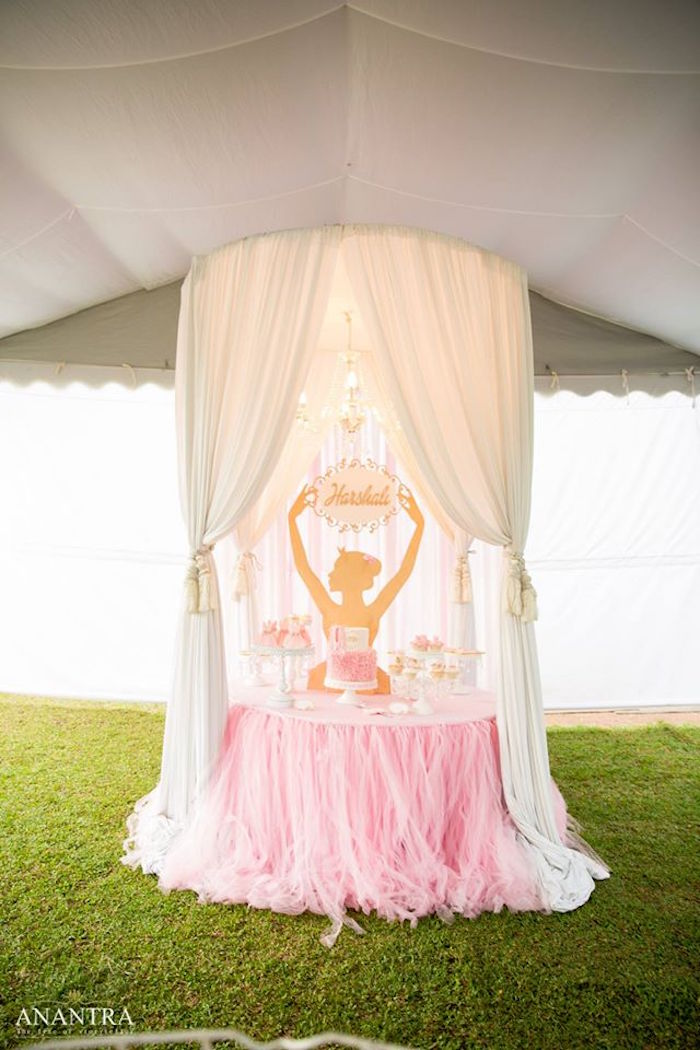 Kara S Party Ideas Elegant Ballerina Birthday Party Kara