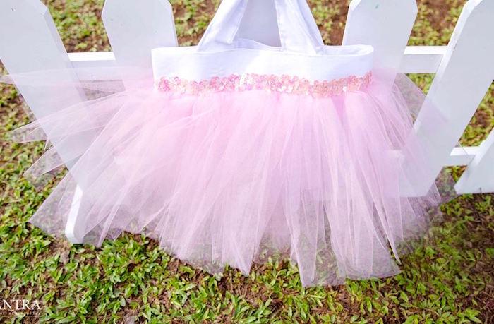 Tutu gift bag from an Elegant Ballerina Birthday Party on Kara's Party Ideas | KarasPartyIdeas.com (23)