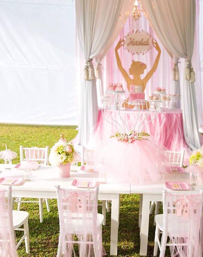 Elegant Ballerina Birthday Party on Kara's Party Ideas | KarasPartyIdeas.com (4)