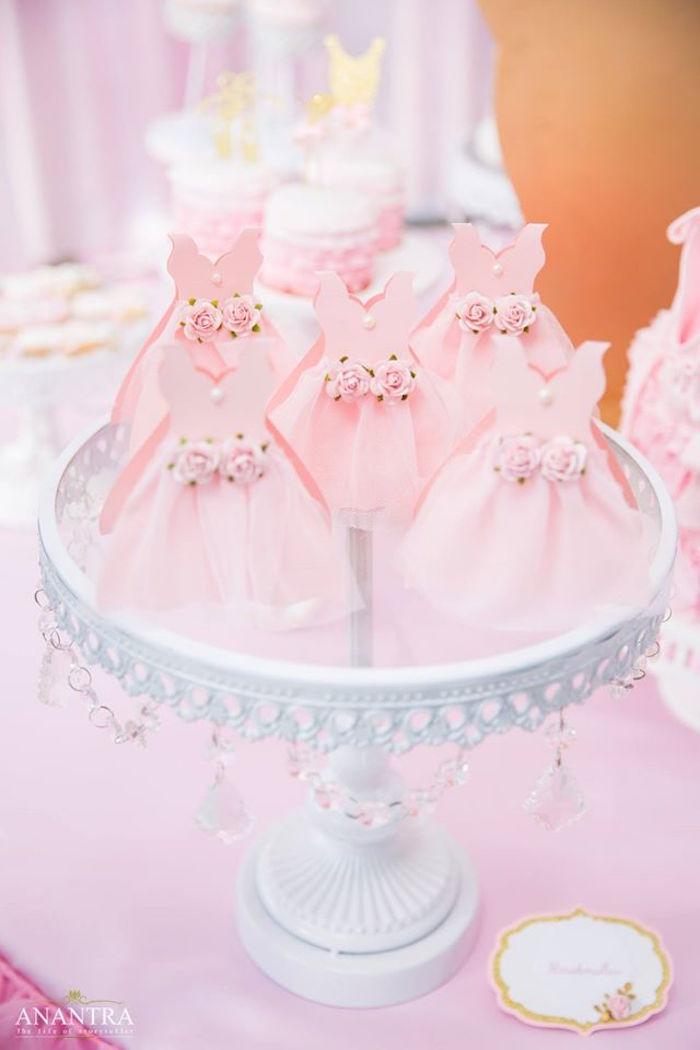 Ballerina form favors from an Elegant Ballerina Birthday Party on Kara's Party Ideas | KarasPartyIdeas.com (34)