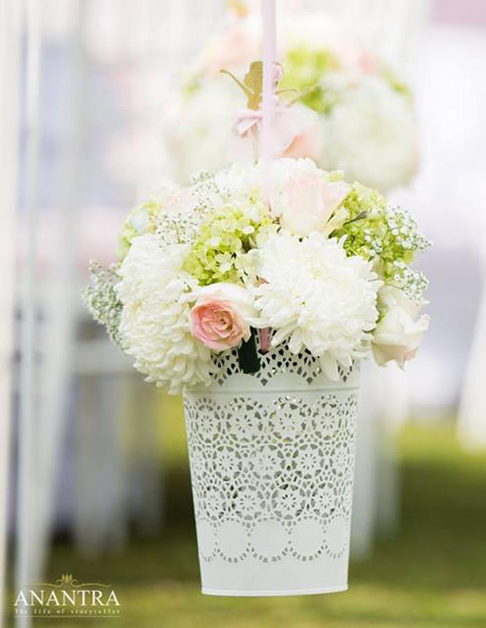 Hanging florals from an Elegant Ballerina Birthday Party on Kara's Party Ideas | KarasPartyIdeas.com (31)