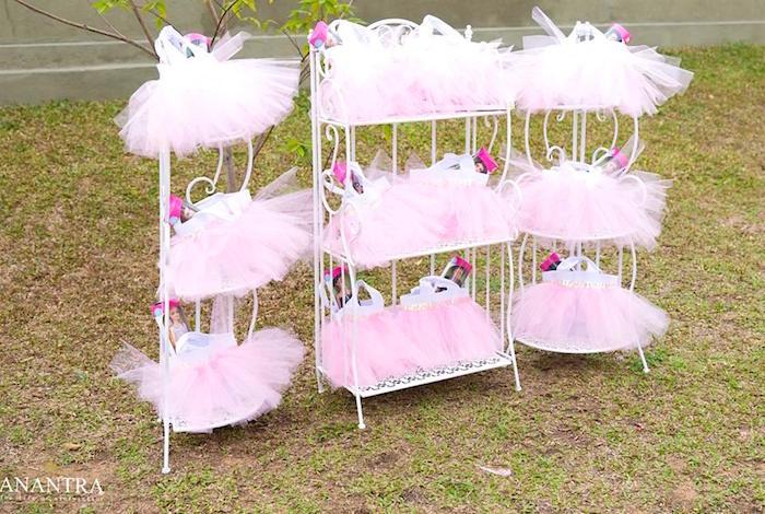 Ballerina tutu gift bags from an Elegant Ballerina Birthday Party on Kara's Party Ideas | KarasPartyIdeas.com (29)