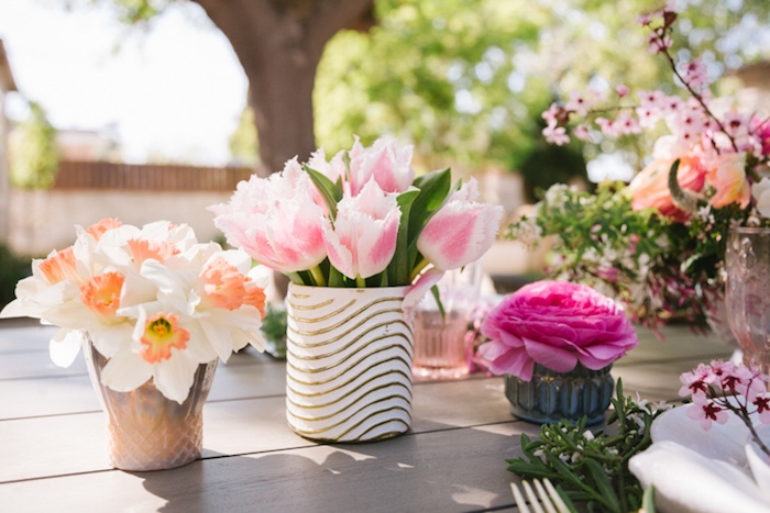 Flowers from a Floral Easter Brunch on Kara's Party Ideas | KarasPartyIdeas.com (24)