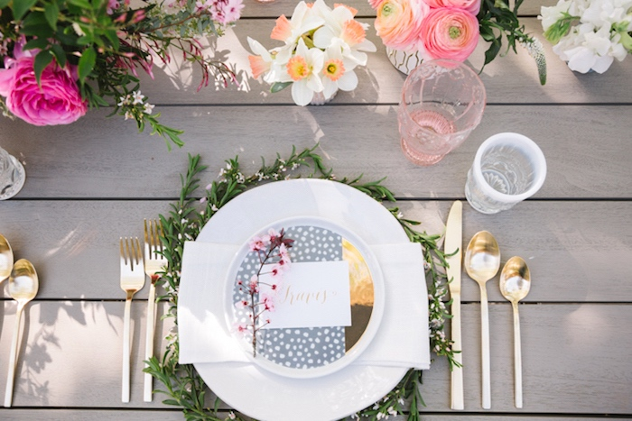Place setting from a Floral Easter Brunch on Kara's Party Ideas | KarasPartyIdeas.com (22)