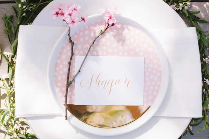 Place setting from a Floral Easter Brunch on Kara's Party Ideas | KarasPartyIdeas.com (20)