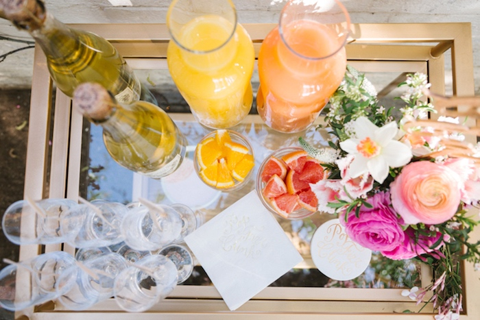 Beverage bar from a Floral Easter Brunch on Kara's Party Ideas | KarasPartyIdeas.com (34)