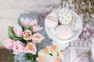 Easter Egg Macarons from a Floral Easter Brunch on Kara's Party Ideas | KarasPartyIdeas.com (13)