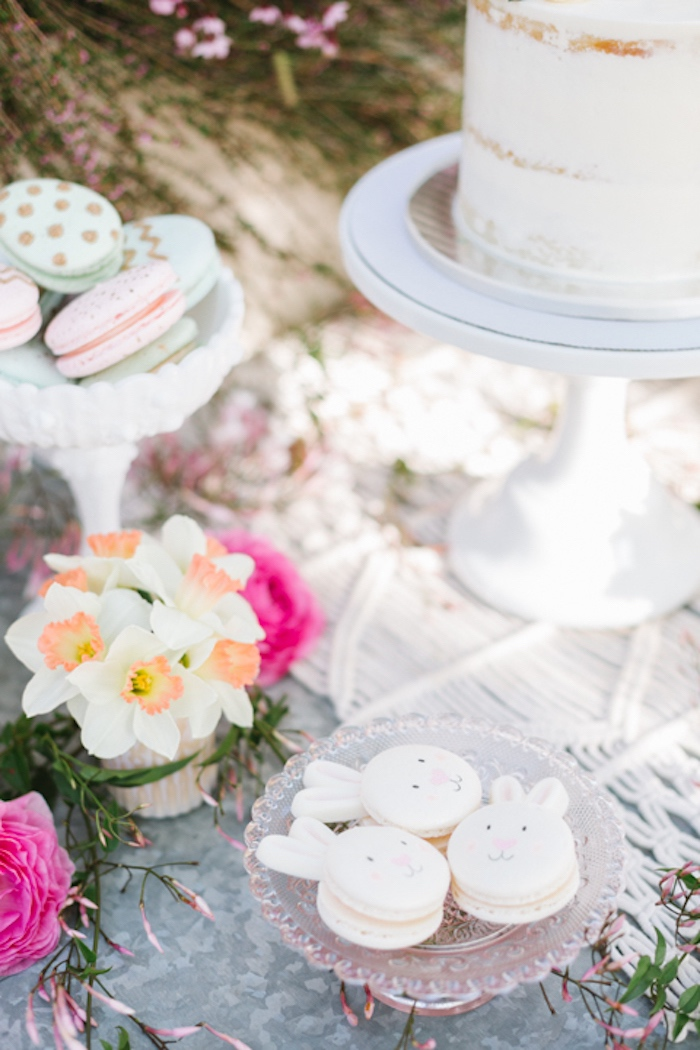 Macarons from a Floral Easter Brunch on Kara's Party Ideas | KarasPartyIdeas.com (10)