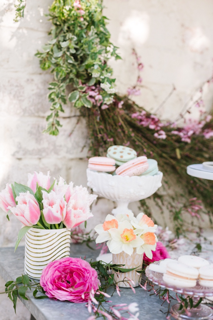 Sweet table details from a Floral Easter Brunch on Kara's Party Ideas | KarasPartyIdeas.com (6)