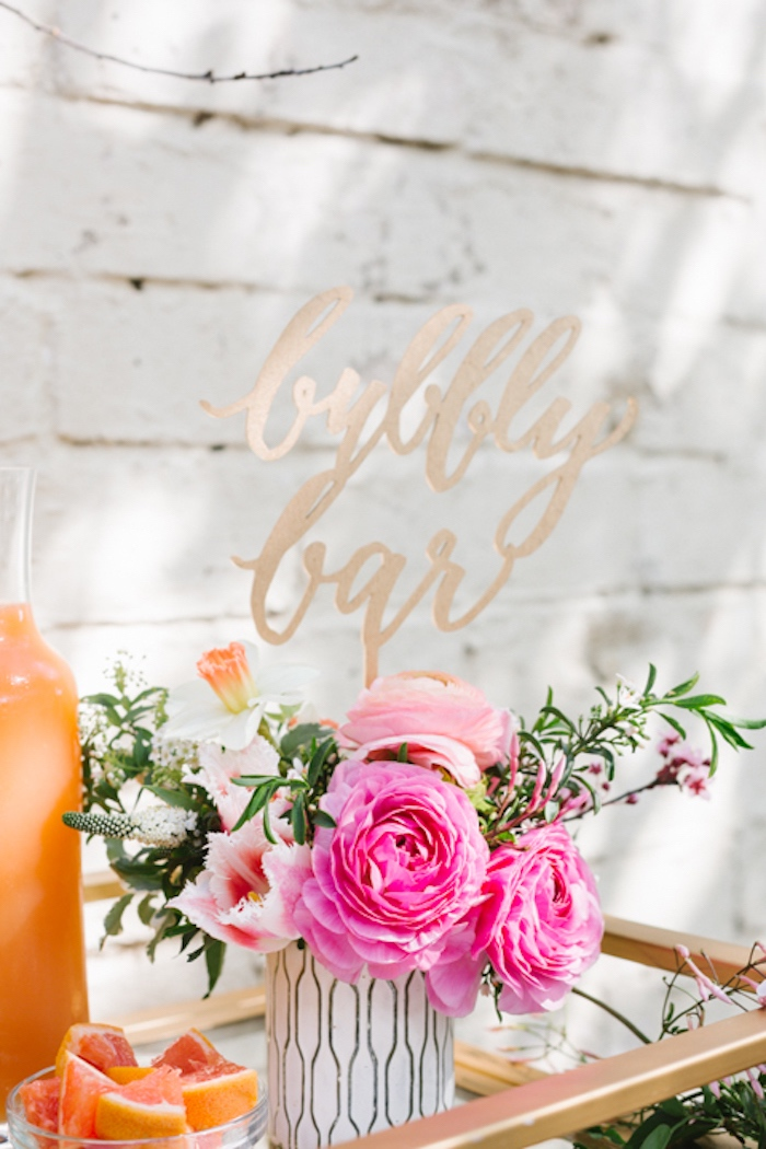 Bubbly bar florals from a Floral Easter Brunch on Kara's Party Ideas | KarasPartyIdeas.com (32)