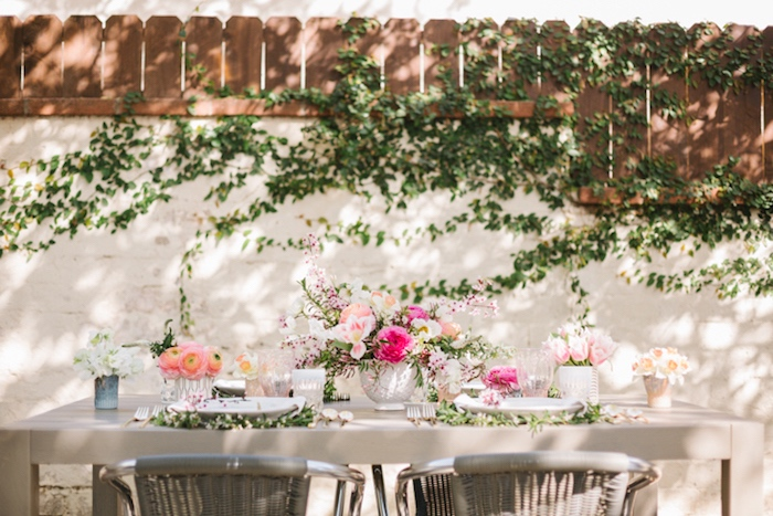 Guest table from a Floral Easter Brunch on Kara's Party Ideas | KarasPartyIdeas.com (29)