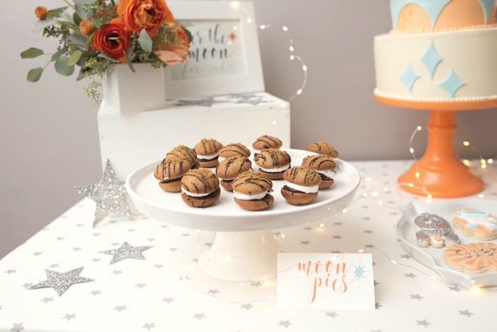 """Sweet table detail from a """"Fly Me to the Moon"""" Joint Birthday Party on Kara's Party Ideas 