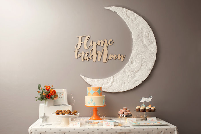 """Fly Me to the Moon"" Joint Birthday Party on Kara's Party Ideas 