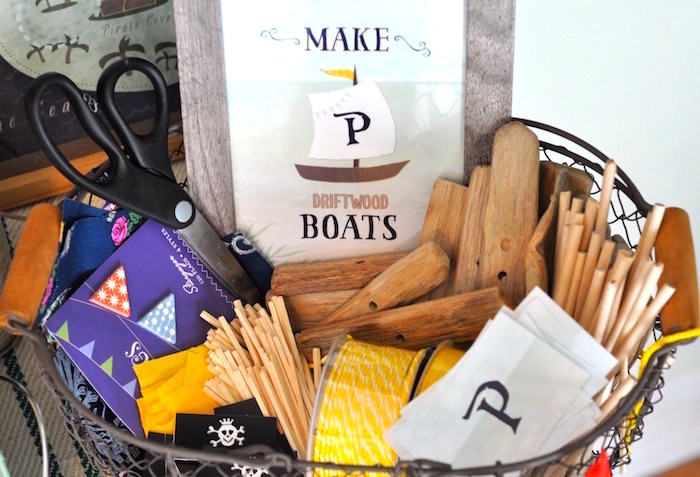 Boat crafting activity from a Girly Pirate Birthday Party on Kara's Party Ideas | KarasPartyIdeas.com (29)