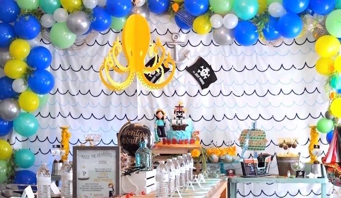 Girly Pirate Birthday Party on Kara's Party Ideas | KarasPartyIdeas.com (15)