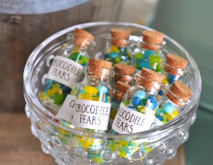 Jelly bean crocodile tears from a Girly Pirate Birthday Party on Kara's Party Ideas | KarasPartyIdeas.com (12)