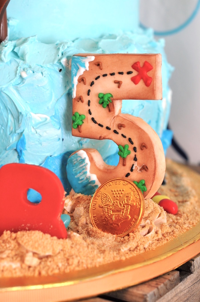 Map cookie from a Girly Pirate Birthday Party on Kara's Party Ideas | KarasPartyIdeas.com (38)