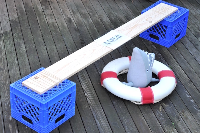 """""""The plank"""" from a Girly Pirate Birthday Party on Kara's Party Ideas 